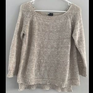 Gold/beige sequin sweater